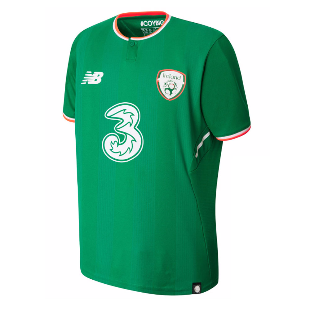2017-2018 Ireland Home New Balance Football Shirt (Kids)