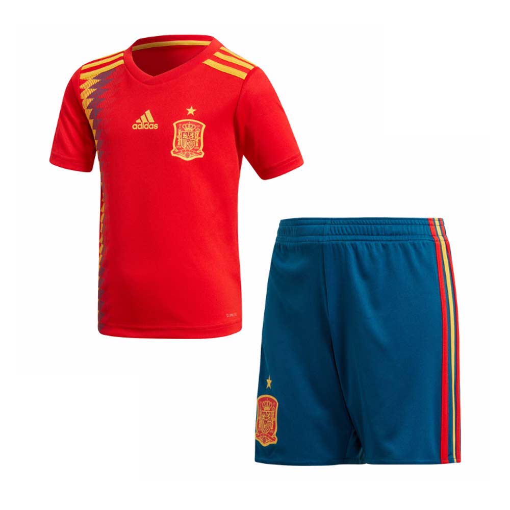 aac26a6a2f6 2018-2019 Spain Home Adidas Mini Kit  BR2706  - Uksoccershop