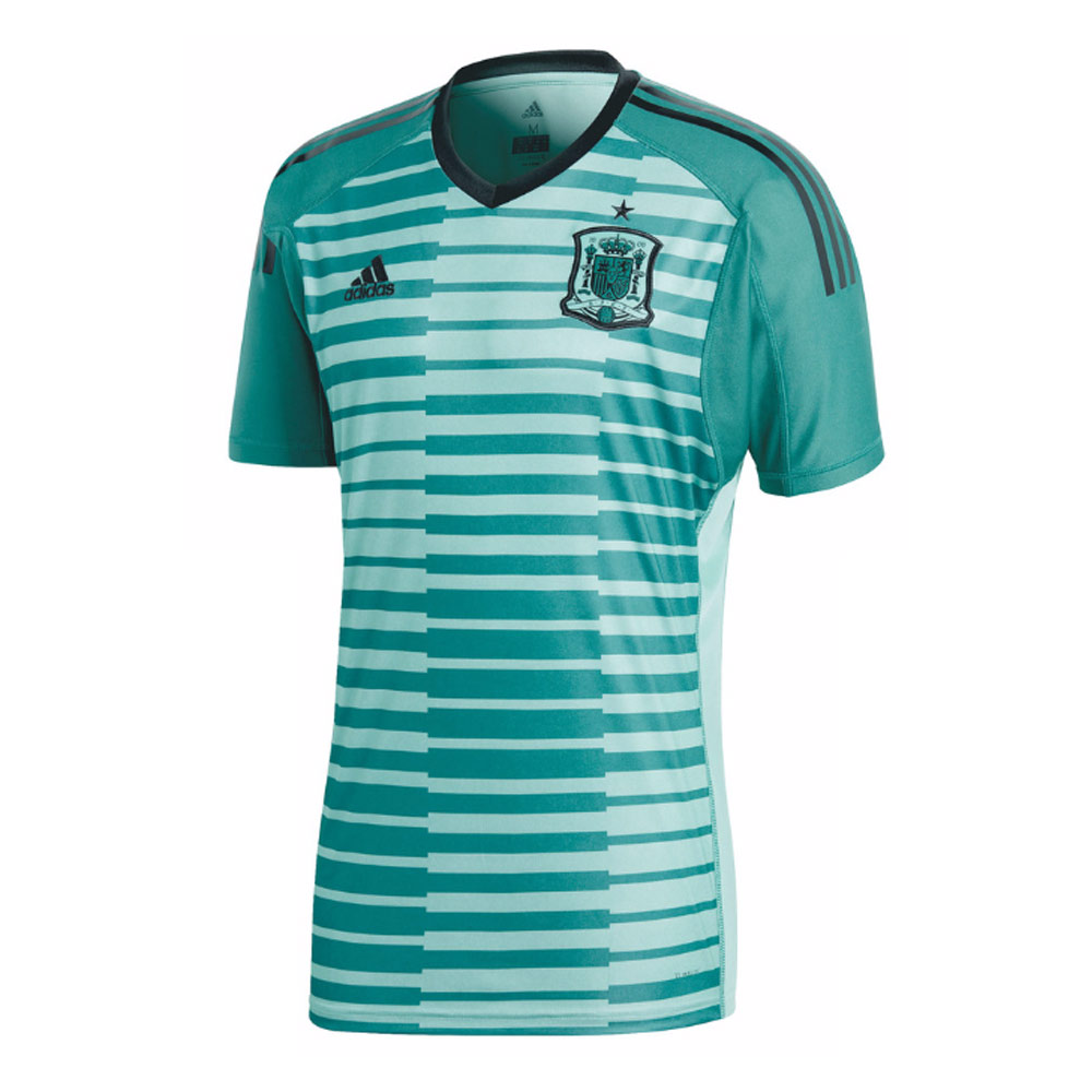 best sneakers 1718c c53de 2018-2019 Spain Home Adidas Goalkeeper Shirt (Green)