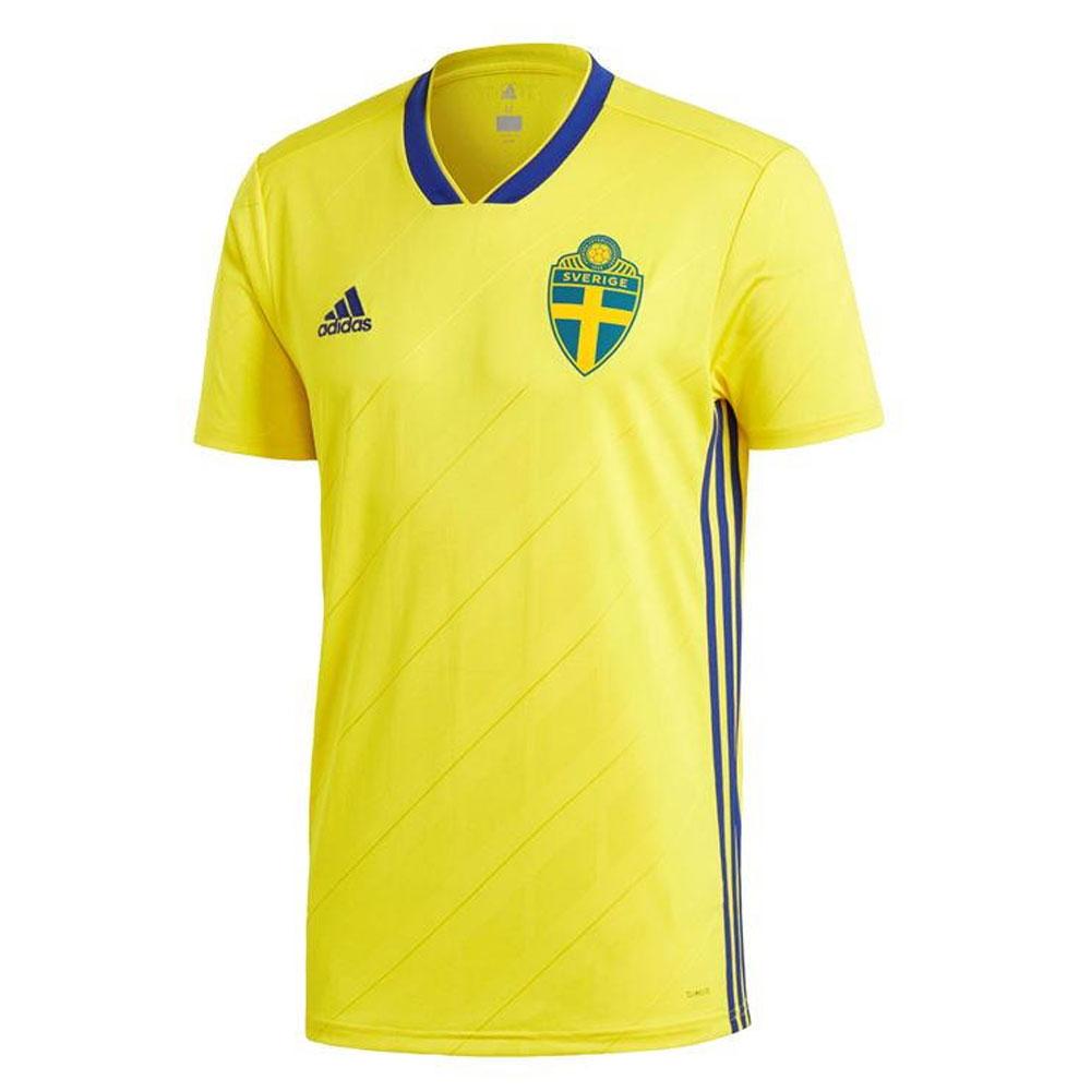 68caf8323eb 2018-2019 Sweden Home Adidas Football Shirt [BR3838] - Uksoccershop