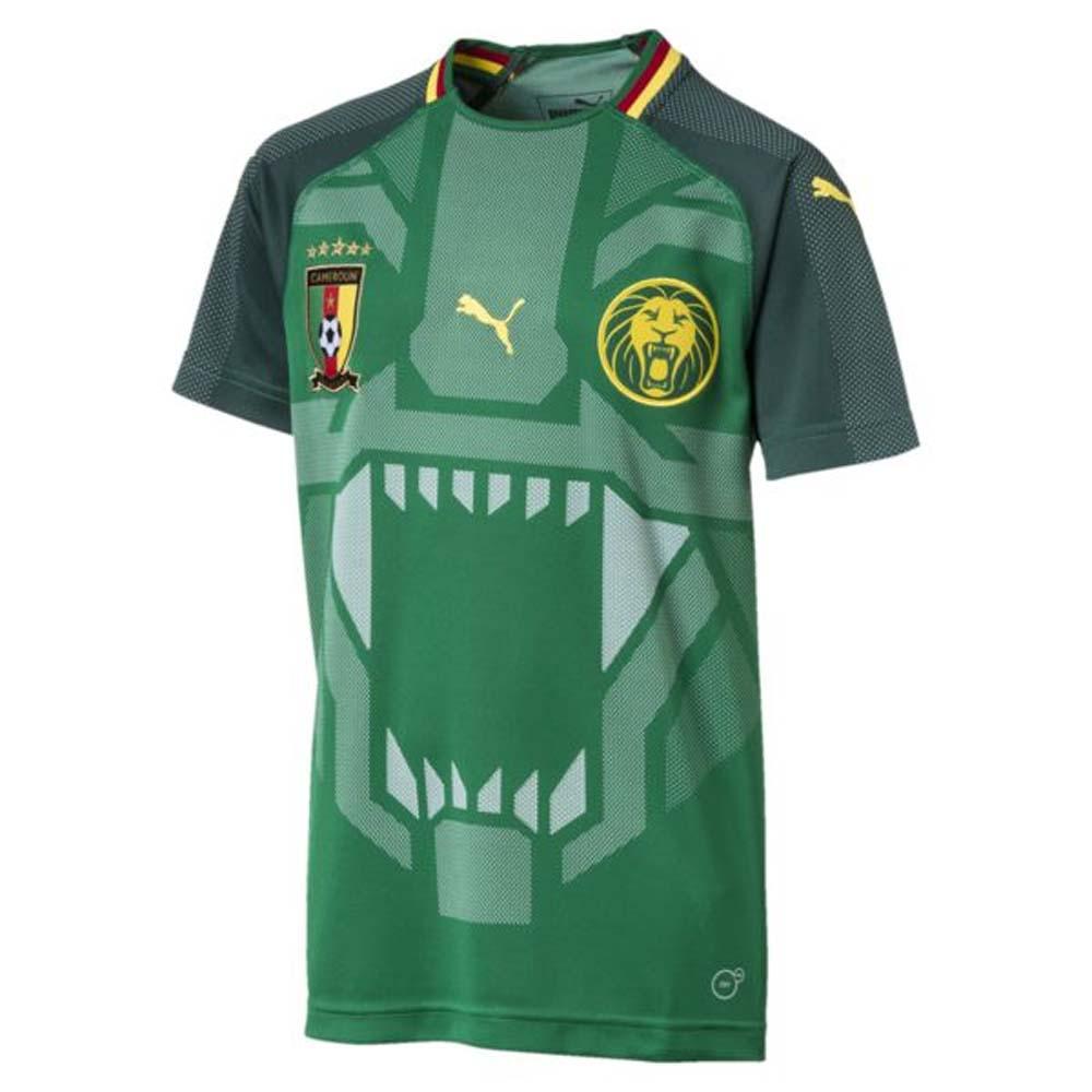 c6b92d9a017 2018-2019 Cameroon Home Puma Football Shirt (Kids)  75234401  - Uksoccershop