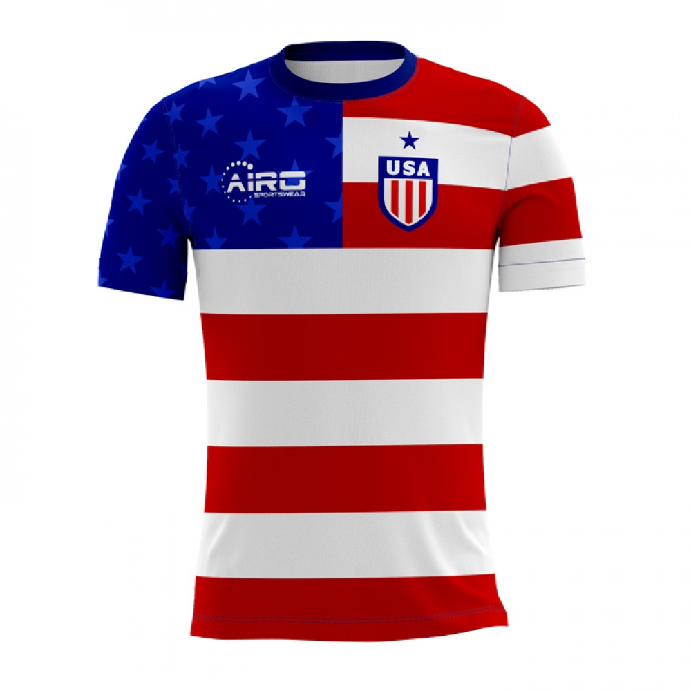 e1f5db85482 2018-2019 USA Home Concept Football Shirt  USAH  - Uksoccershop