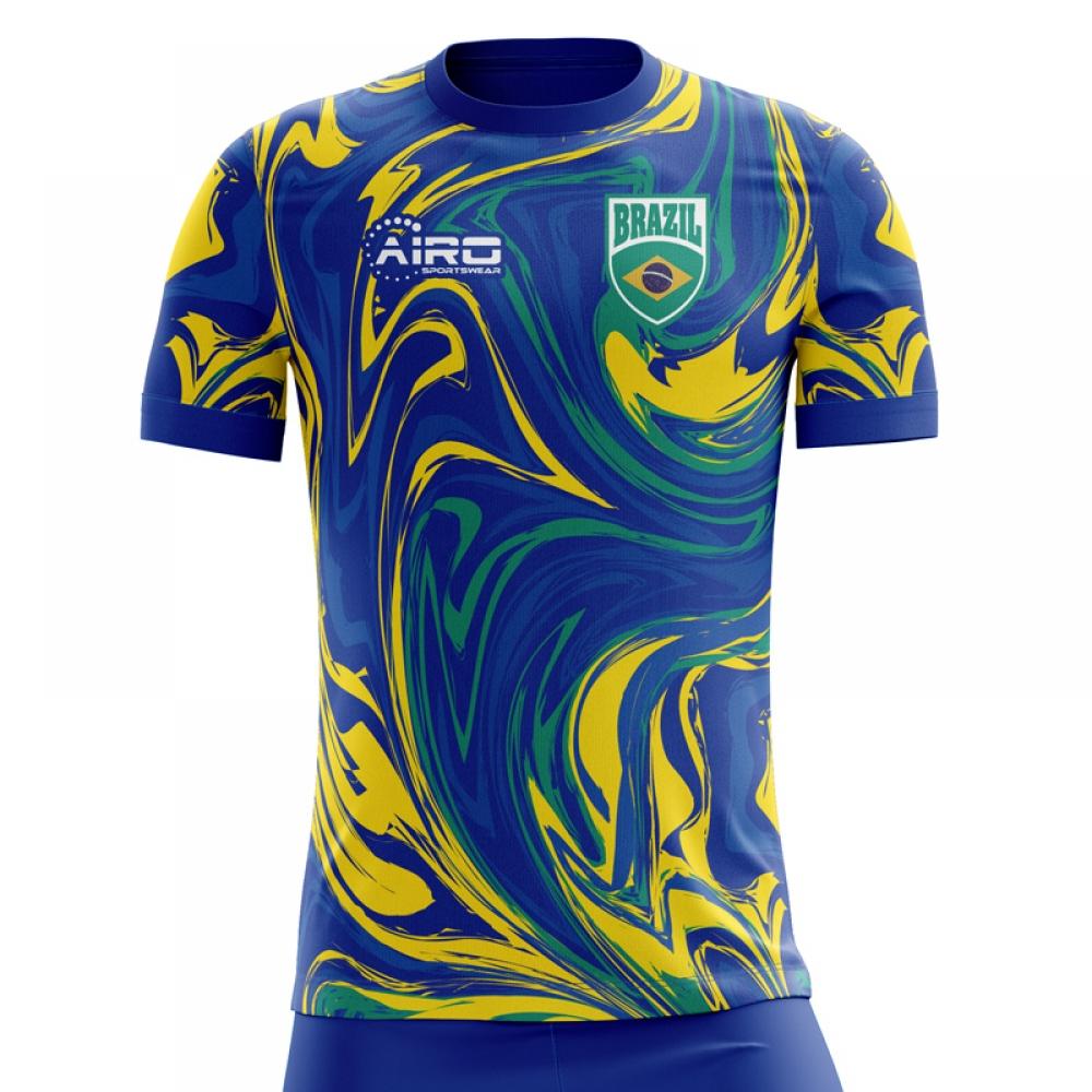 2018-2019 Brazil Away Concept Football Shirt  BRAZILA  - Uksoccershop d7a9ba743