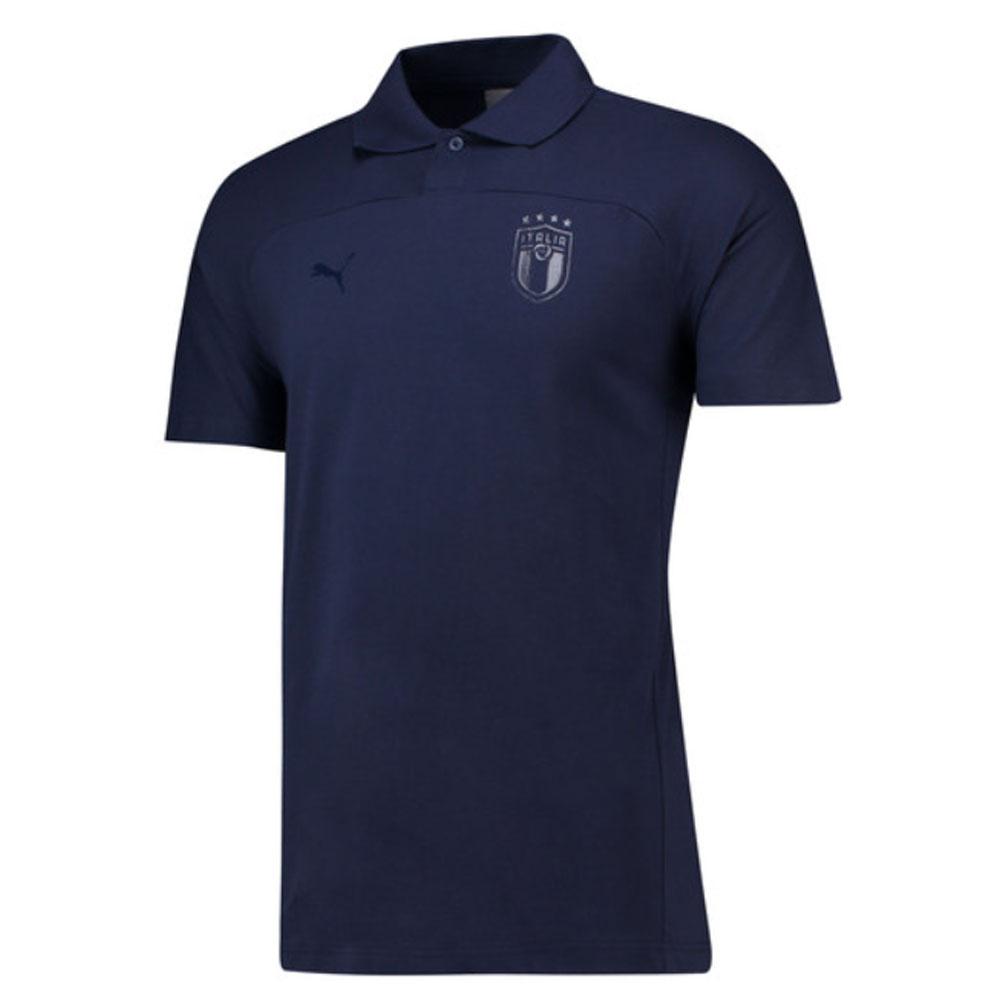 2018-2019 italy puma azzurri polo shirt (peacot)