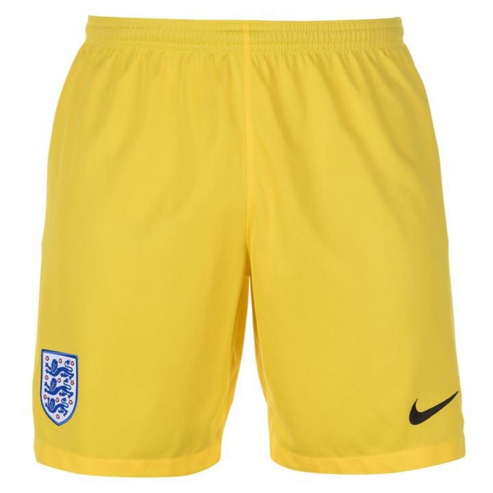 2018-2019 England Nike Home Goalkeeper Shorts (Yellow)