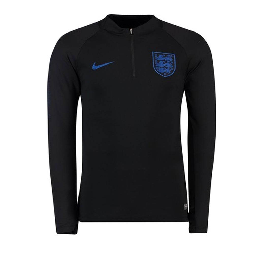 ab999e772 2018-2019 England Nike Training Drill Top (Black) - Kids  893703-011   -  Uksoccershop
