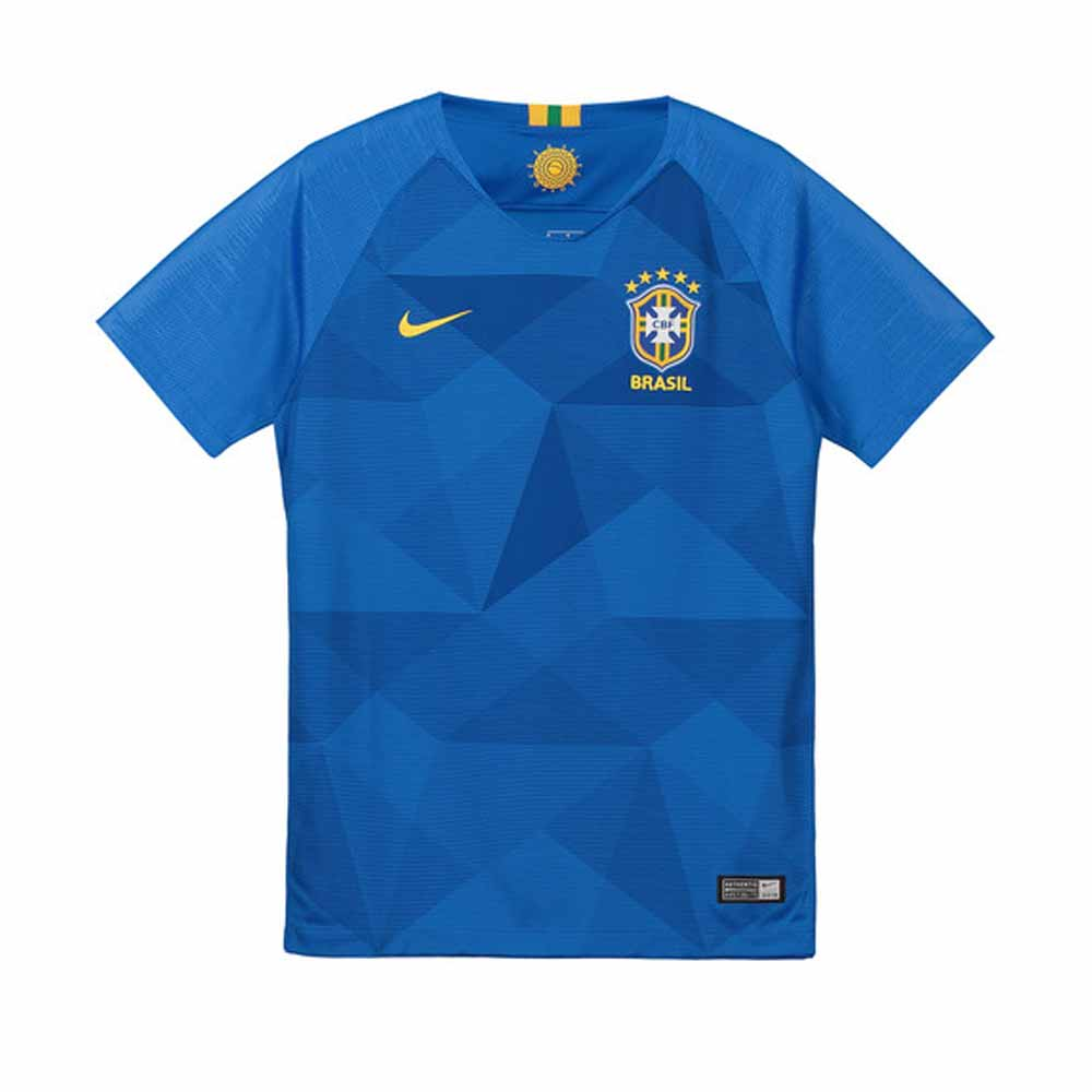 308288fd480 2018-2019 Brazil Away Nike Football Shirt (Kids)  893969-453  - Uksoccershop