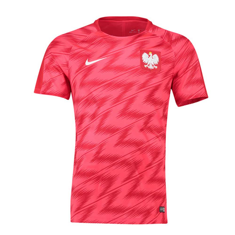 221c05cd3 2018-2019 Poland Nike Pre-Match Training Shirt (Red)  893365-653  -  Uksoccershop