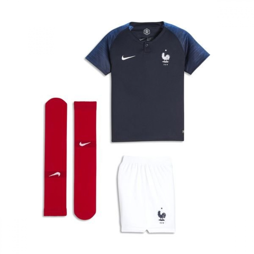new arrival 407e7 76f1b 2018-2019 France Home Nike Mini Kit