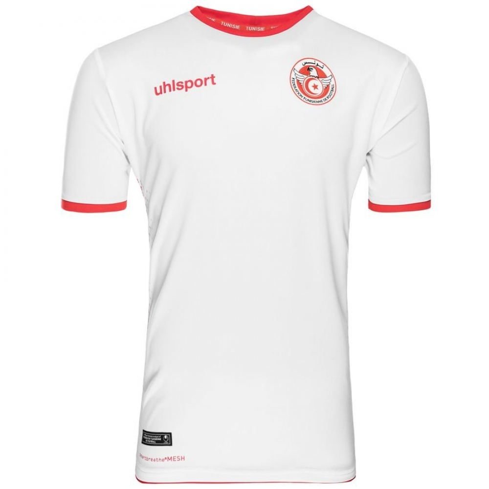 418d102be 2018-2019 Tunisia Home Uhlsport Football Shirt  1003351011956  -  Uksoccershop