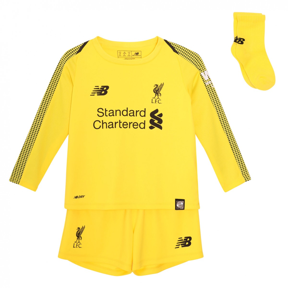 quality design fcca7 259da Liverpool Kids LS Goalkeeper Home Mini Kit 2018/19