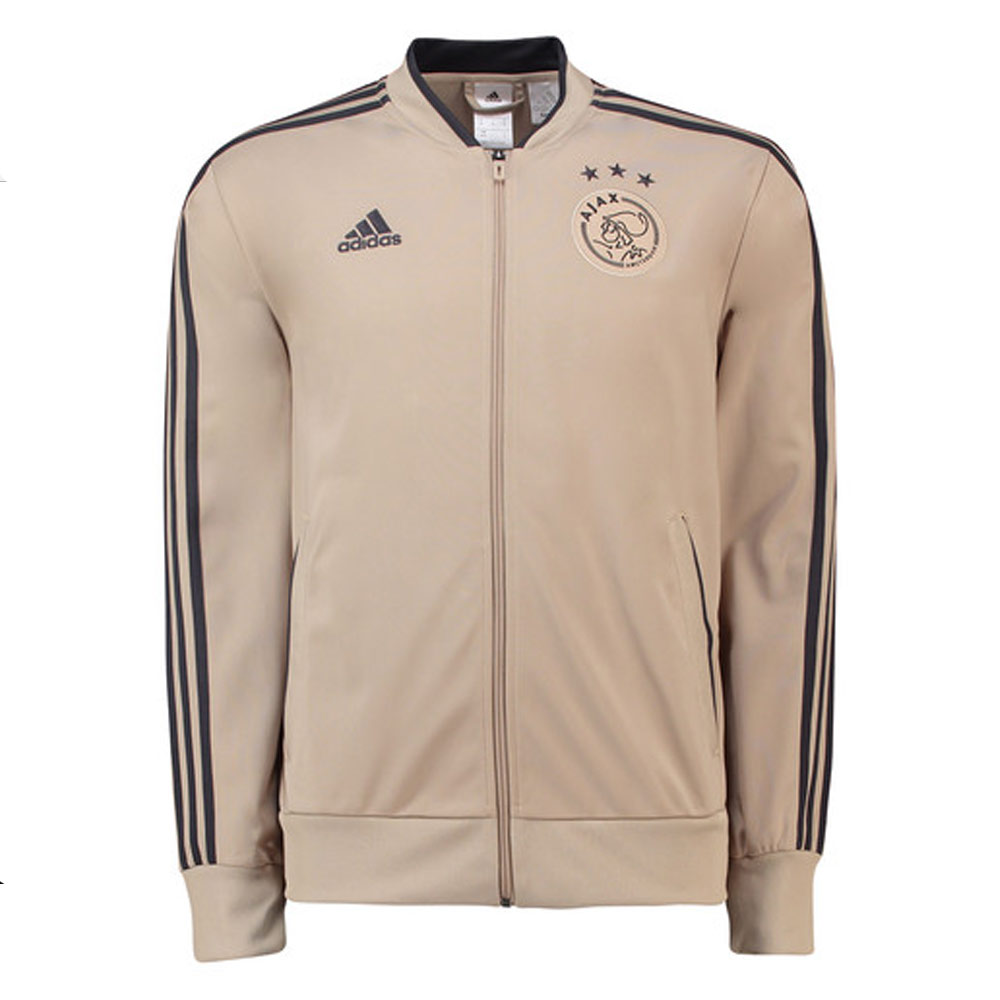 46b1d1fe5c3 2018-2019 Ajax Adidas Knitted Presentation Jacket (Raw Gold)  CW8017  -  Uksoccershop