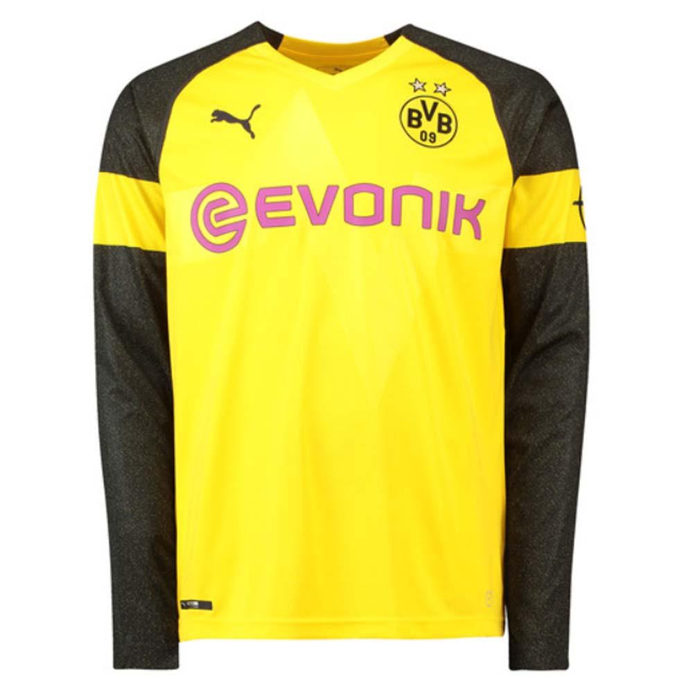 promo code e55dd 63e12 2018-2019 Borussia Dortmund Home Long Sleeve Puma Shirt