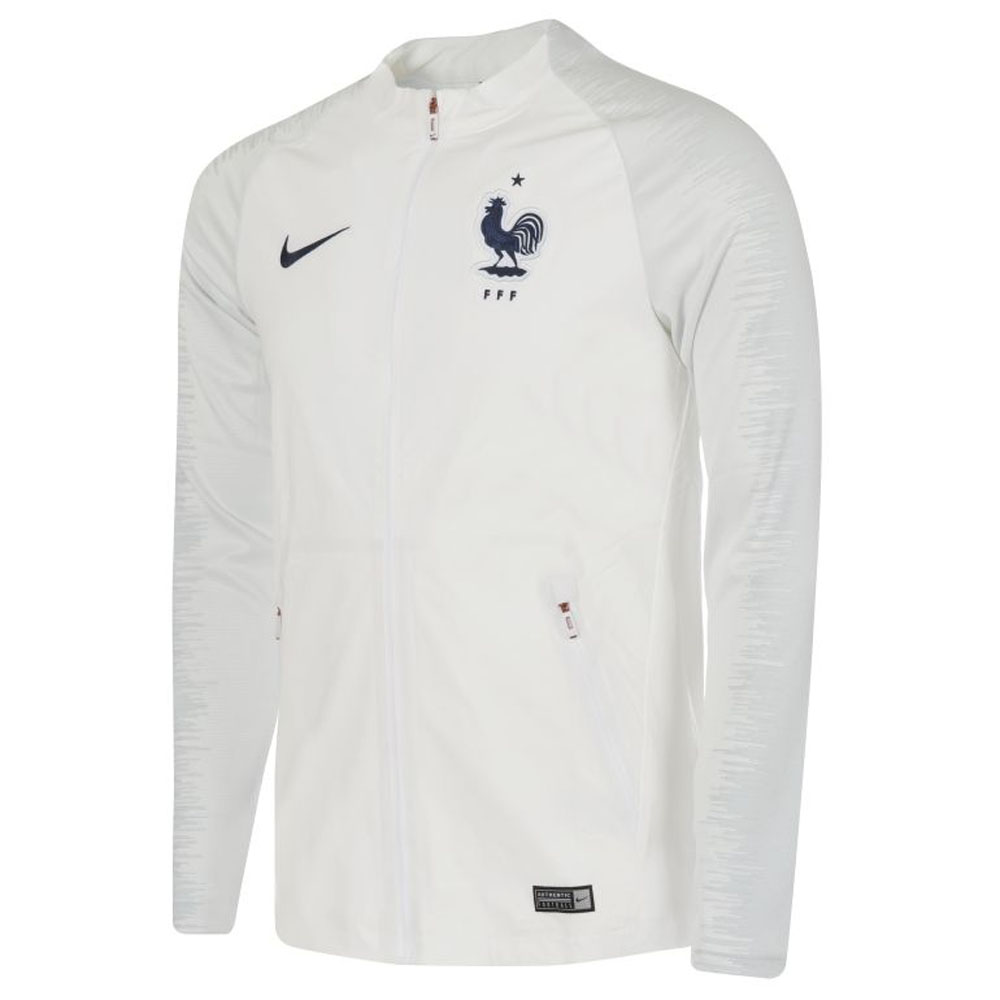2018-2019 France Nike Strike Anthem PZ Jacket (White)