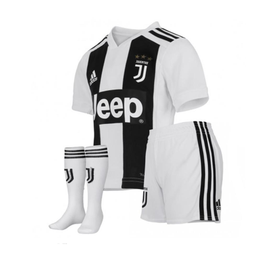 los angeles 7716a d8ec3 2018-2019 Juventus Adidas Home Mini Kit