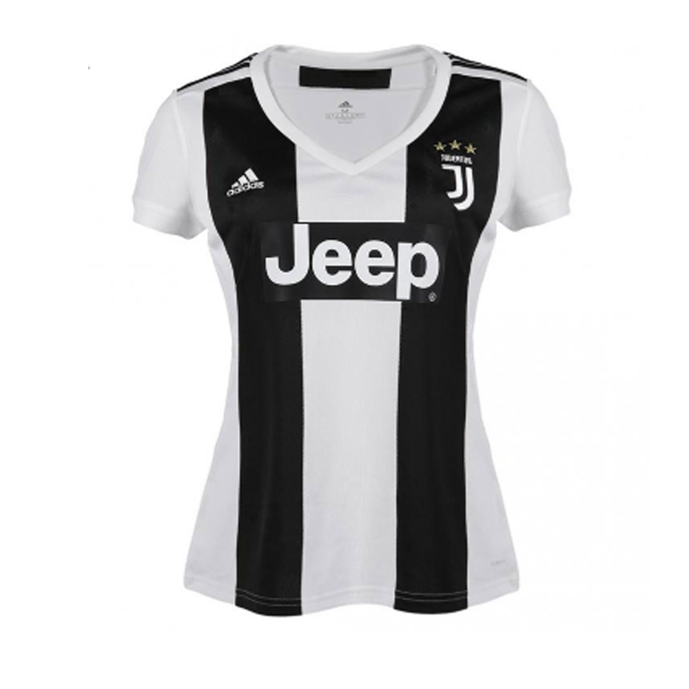 detailed look fc6f7 b56b2 2018-2019 Juventus Adidas Home Womens Shirt