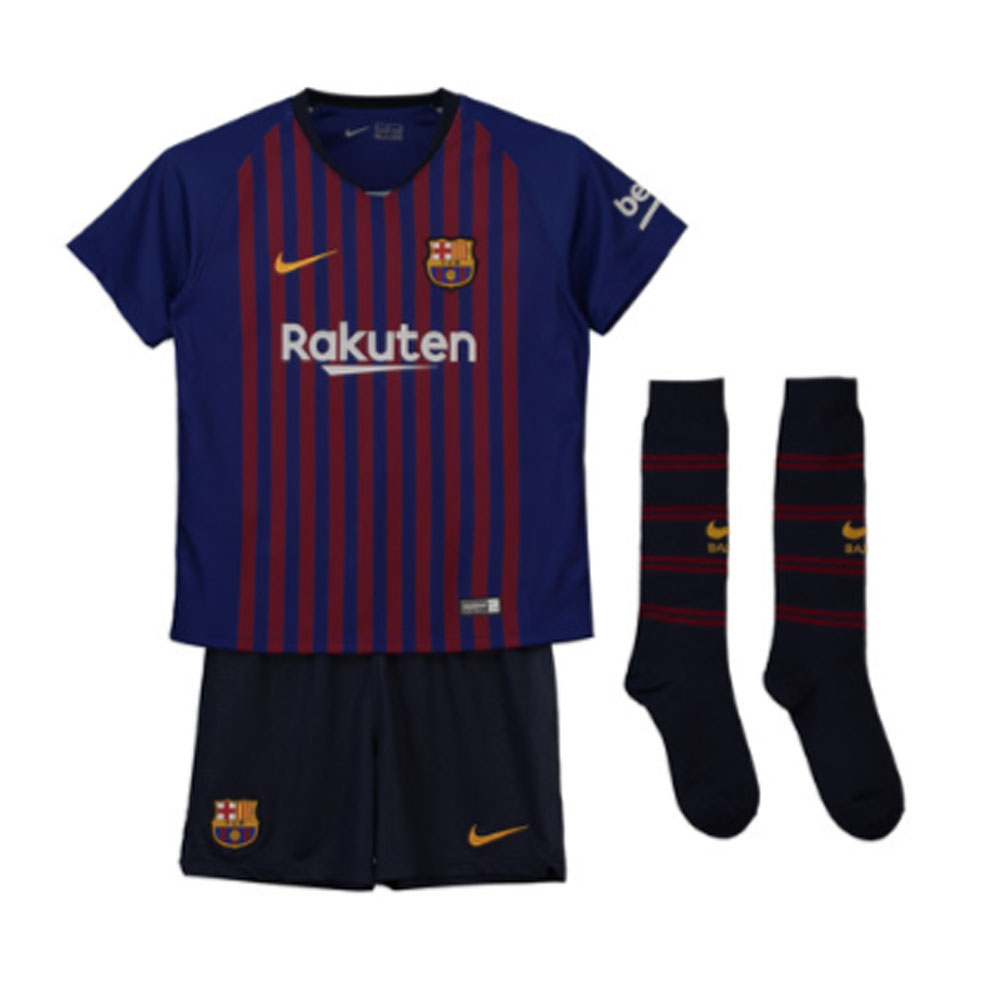 b1b9525d4 2018-2019 Barcelona Home Nike Little Boys Mini Kit  894479-456  -  Uksoccershop