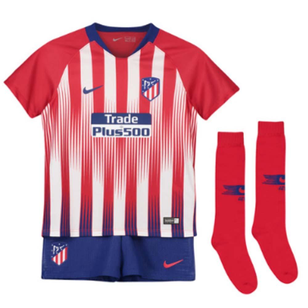 466cdbb512d 2018-2019 Atletico Madrid Home Nike Little Boys Mini Kit  919303-612  -  Uksoccershop