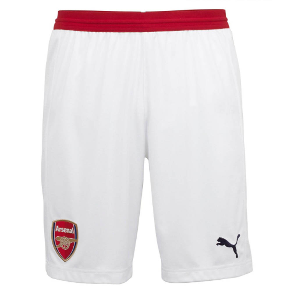 2018-2019 Arsenal Home Football Shorts (White)