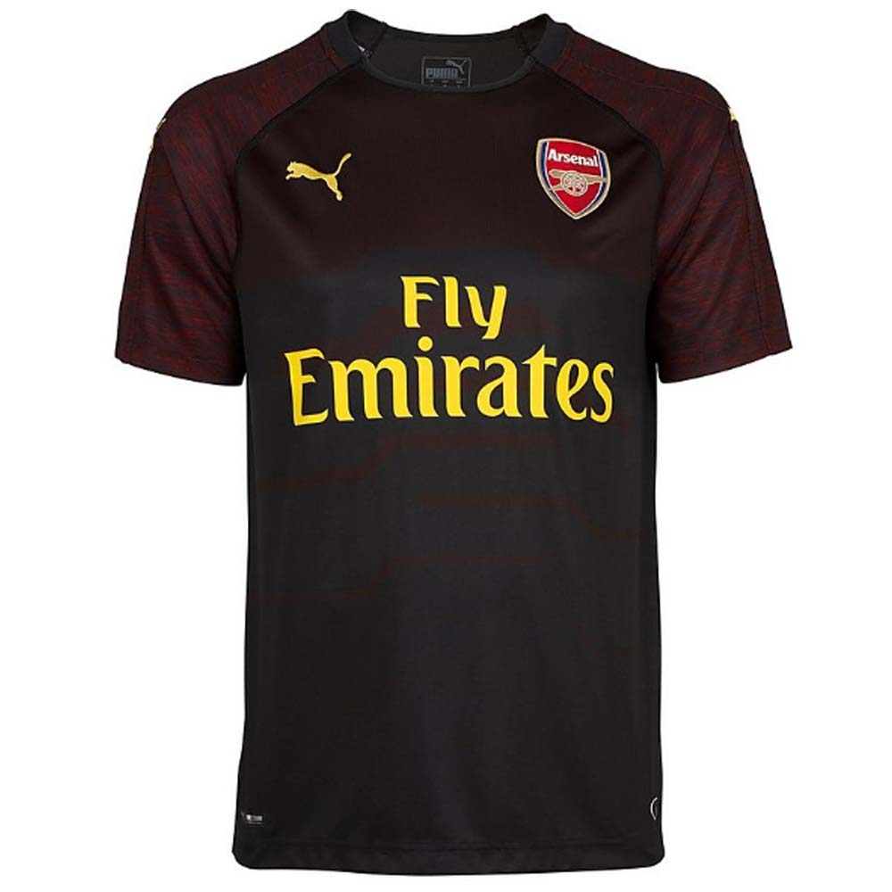 2018-2019 Arsenal Puma Home SS Goalkeeper Shirt (Black)