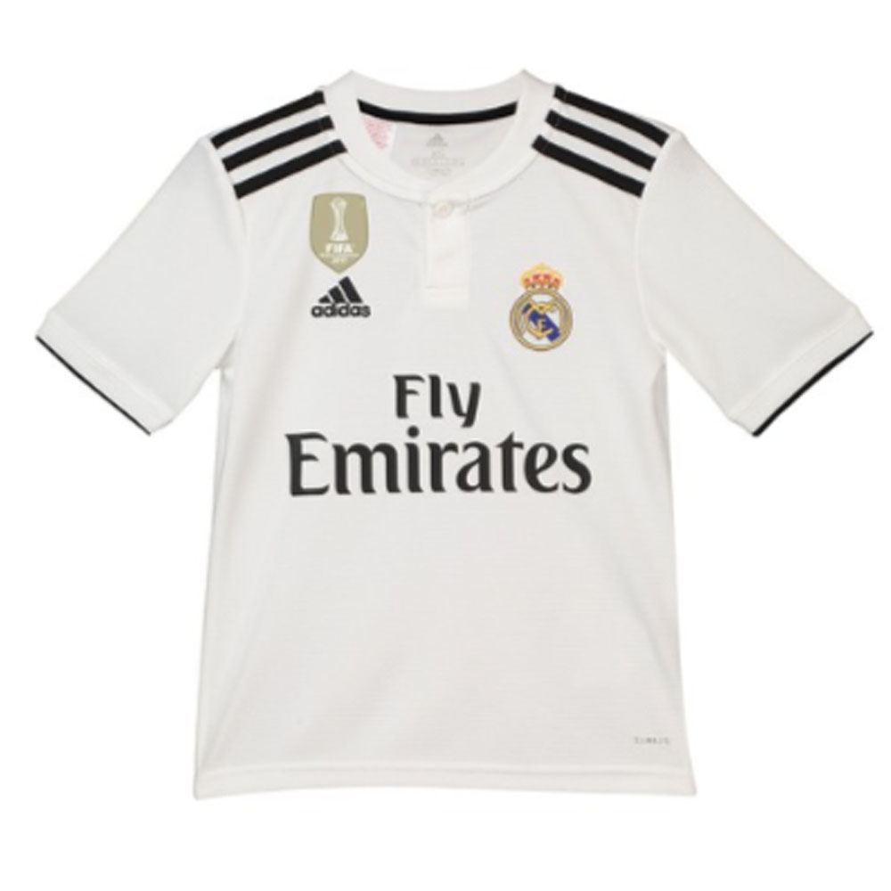 212815f6d adidas Real Madrid Kids SS Home Shirt 2018 19