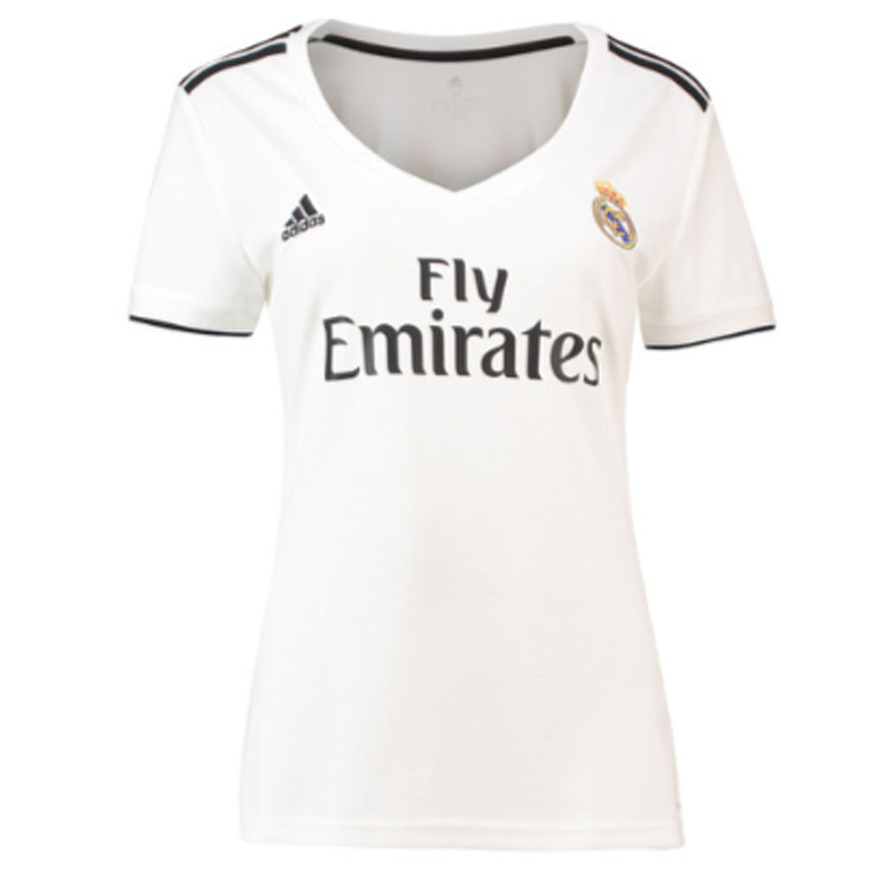 huge discount e0424 15287 2018-2019 Real Madrid Adidas Womens Home Shirt