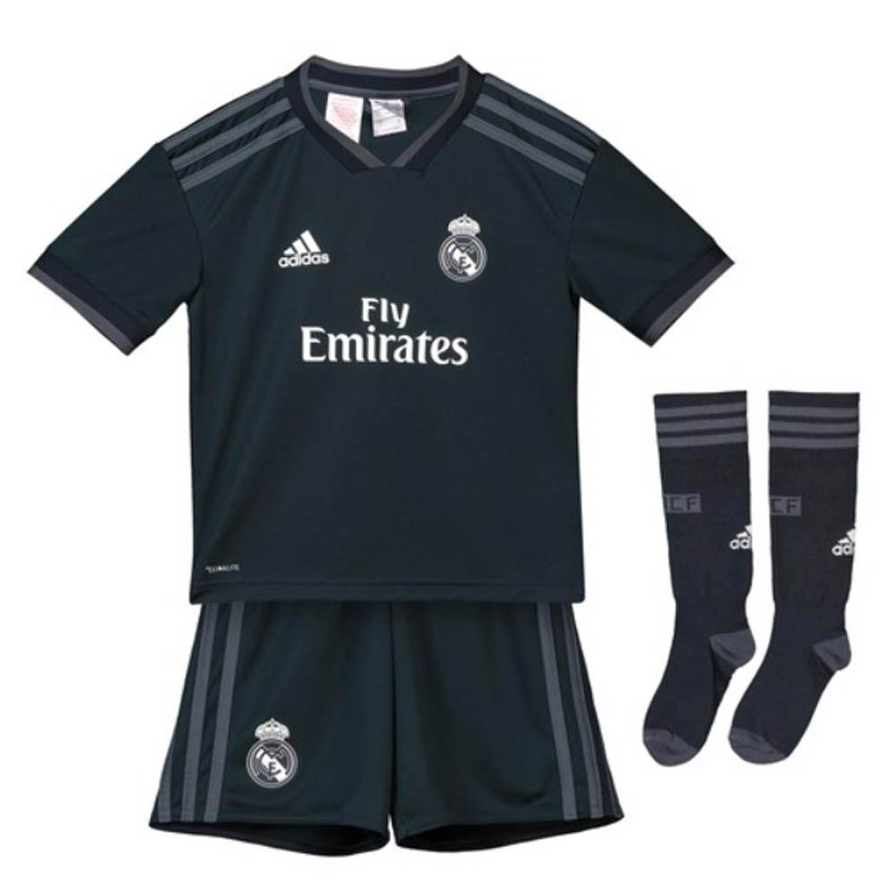official photos bc372 1ede0 2018-2019 Real Madrid Adidas Away Mini Kit
