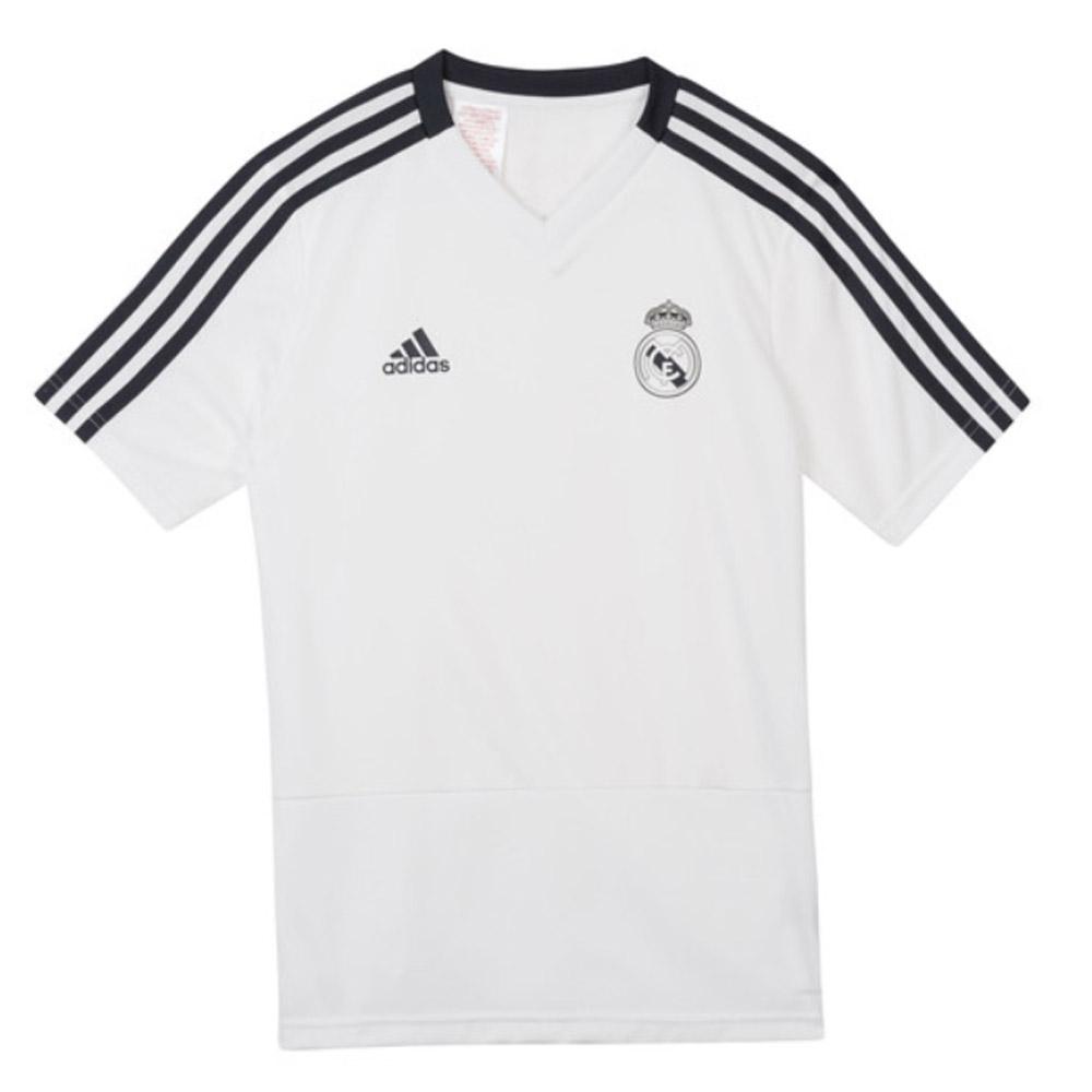 detailed look 88143 aca33 2018-2019 Real Madrid Adidas Training Shirt (White) - Kids