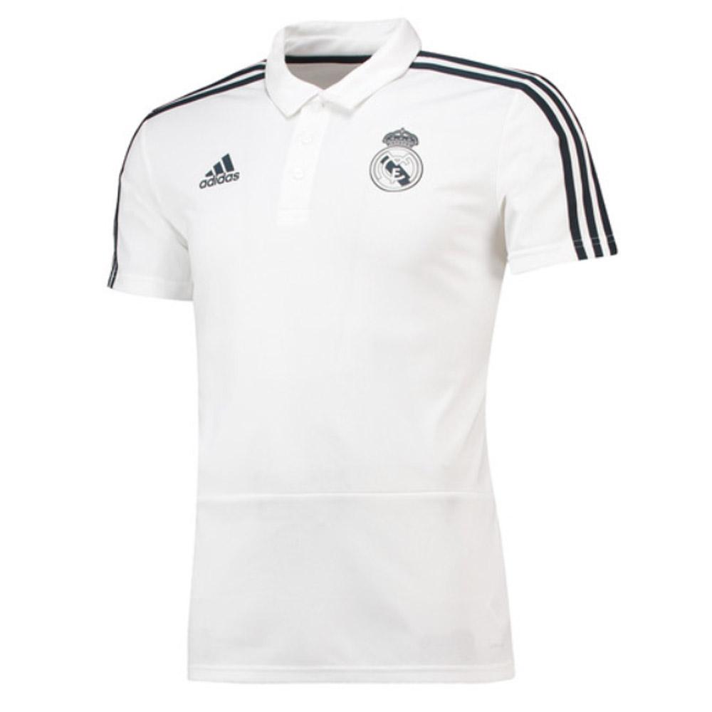 3f4c9096c 2018-2019 Real Madrid Adidas Polo Shirt (White)  CW8669  - Uksoccershop