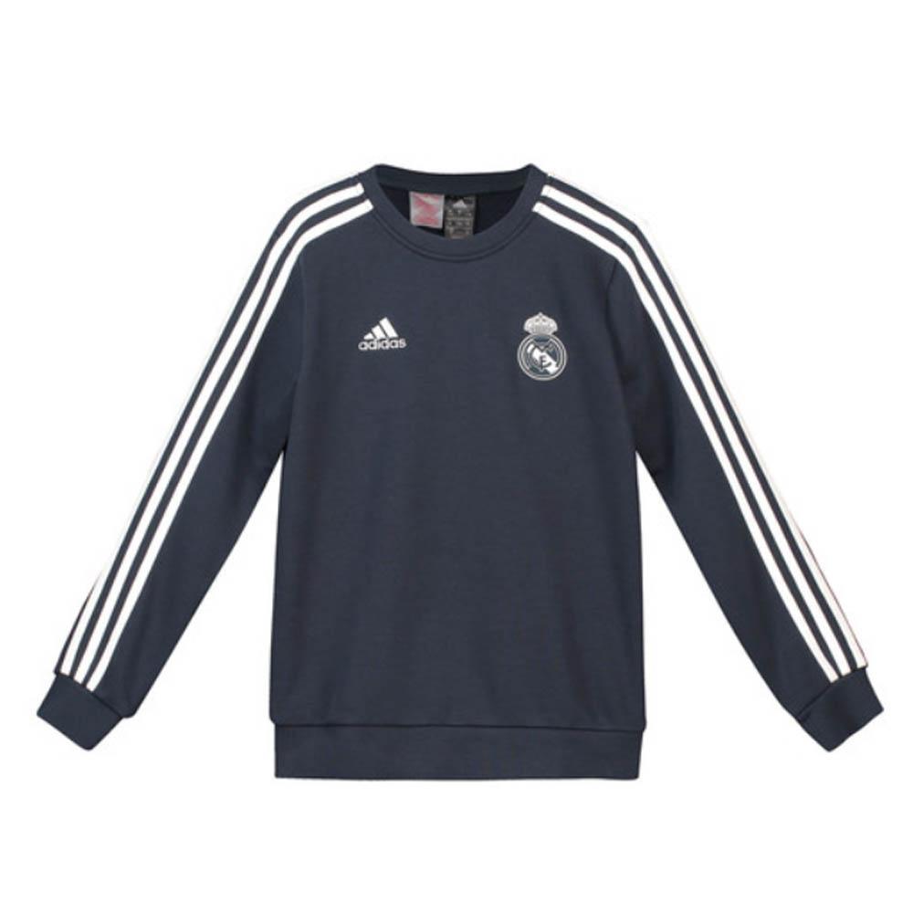 f25d1b11ae56 2018-2019 Real Madrid Adidas Sweat Top (Dark Grey) - Kids  CW8690  -  Uksoccershop