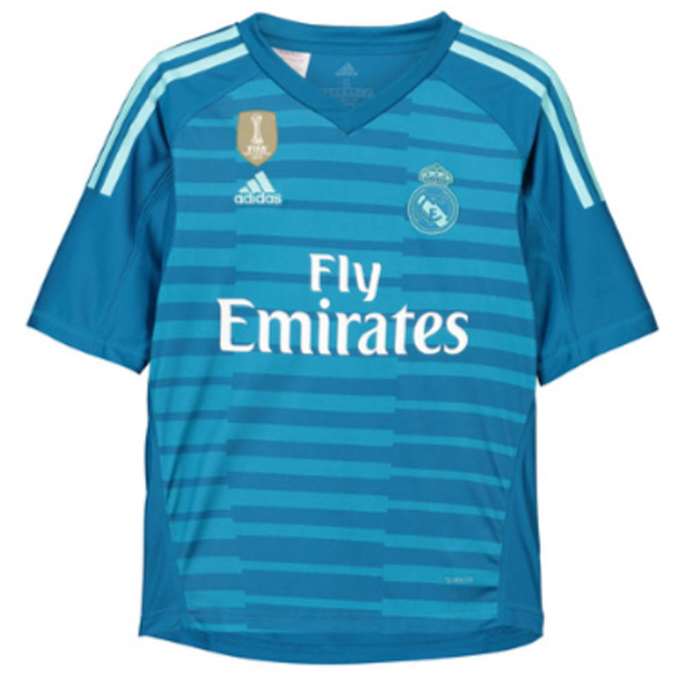 2018 2019 Real Madrid Adidas Away Goalkeeper Shirt Kids