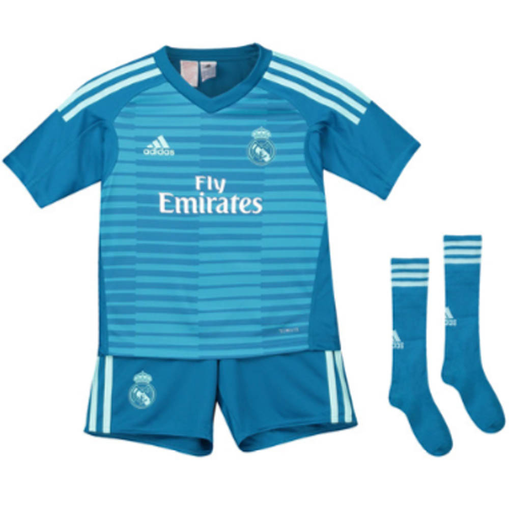 outlet store d2294 2bf08 2018-2019 Real Madrid Adidas Away Goalkeeper Mini Kit