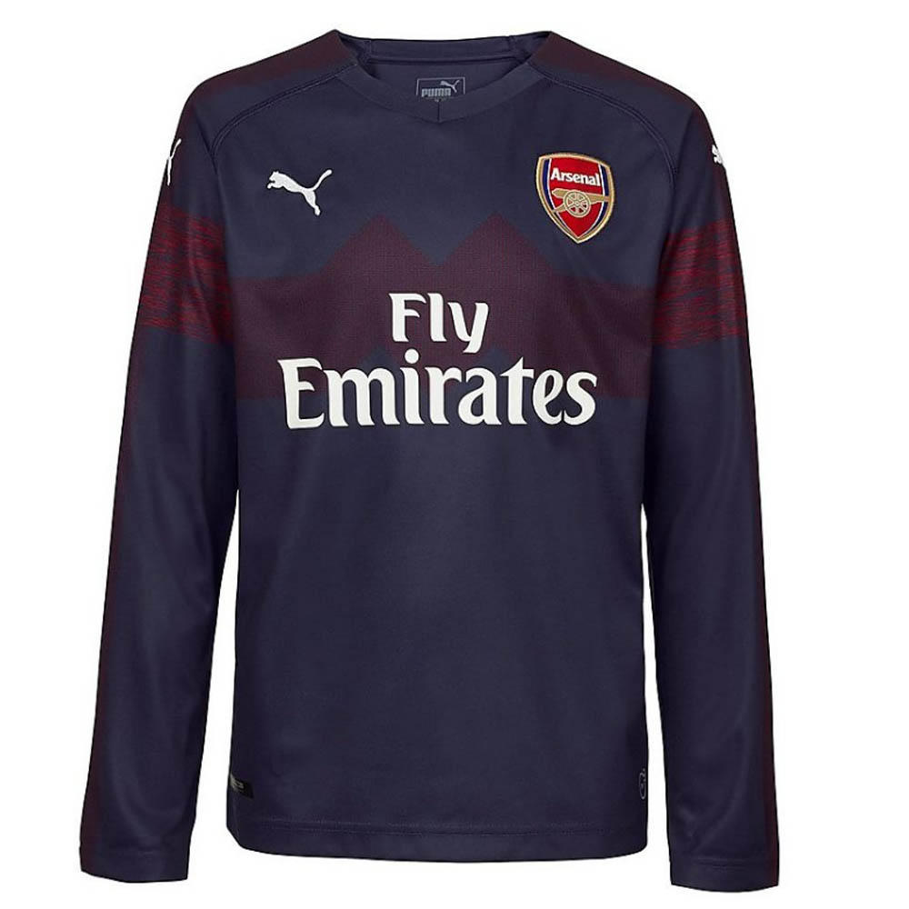 official photos d74e6 2cdef 2018-2019 Arsenal Puma Away Long Sleeve Shirt (Kids)