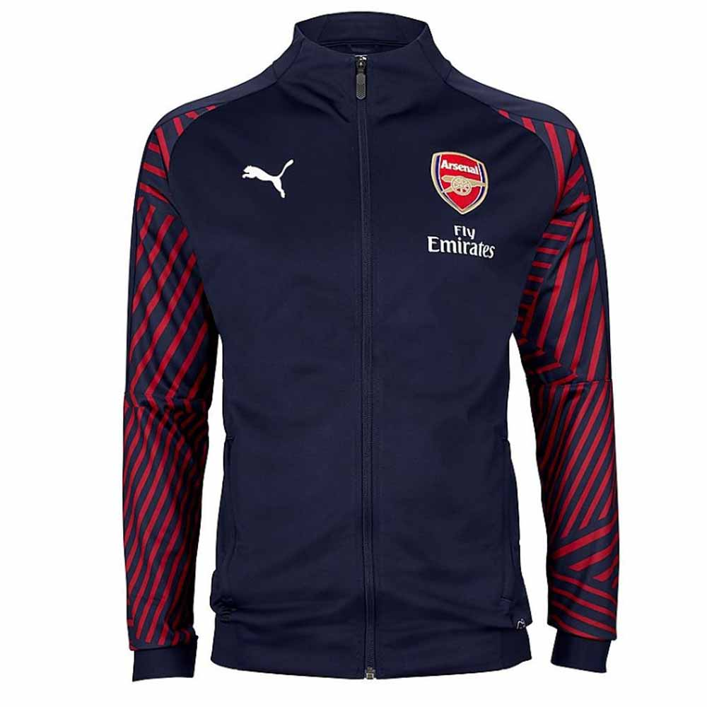 2018-2019 Arsenal Puma Stadium Jacket (Peacot)
