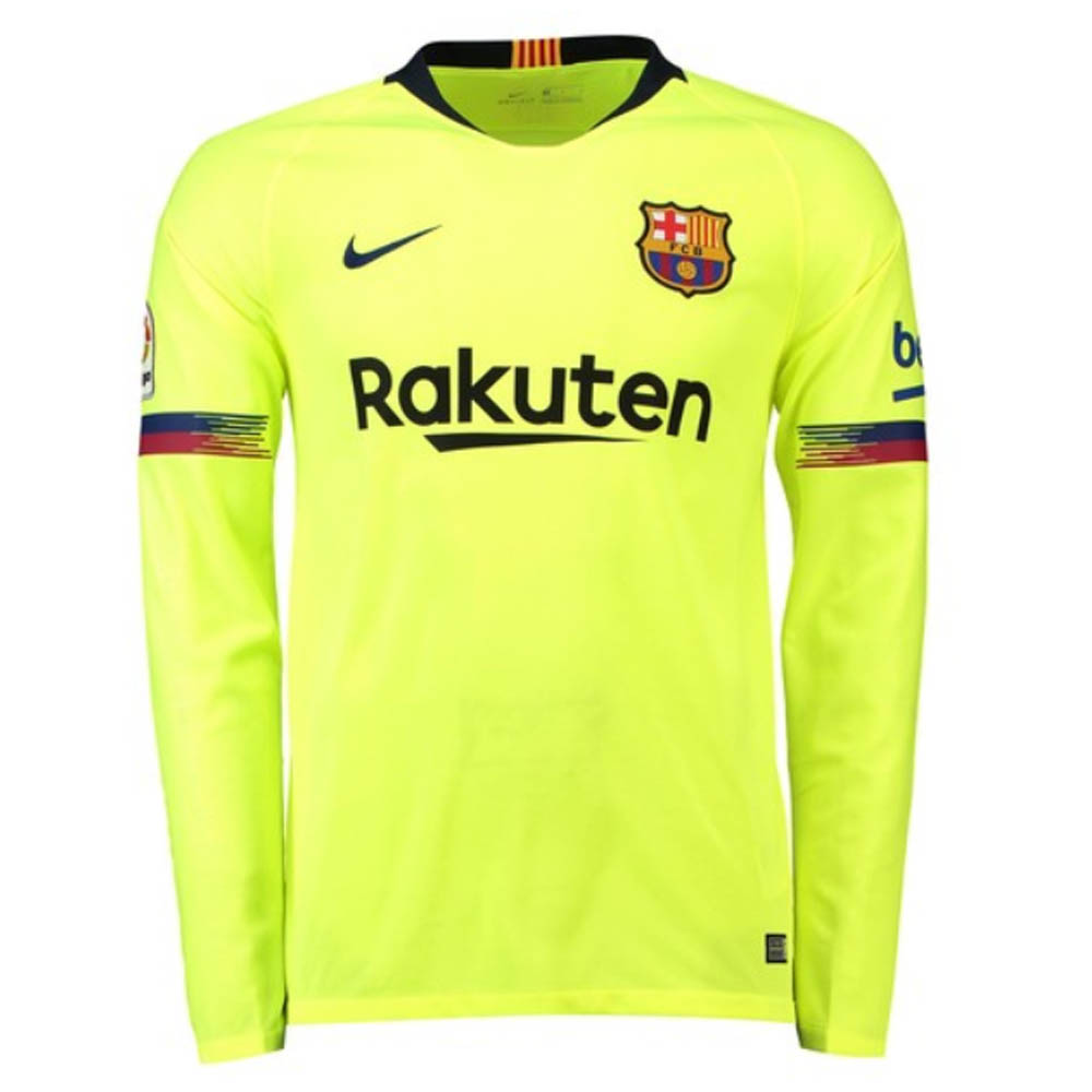 cd42b776f63 2018-2019 Barcelona Away Nike Long Sleeve Shirt  919045-703  - Uksoccershop