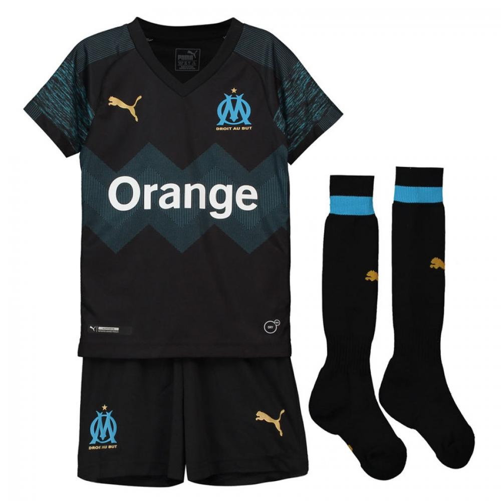 1a994c2ed1 2018-2019 Olympique Marseille Away Little Boys Mini Kit