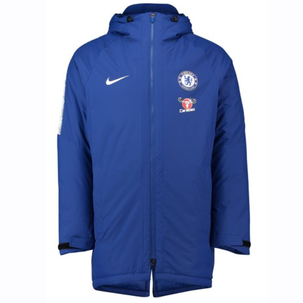 509f26933c9 2018-2019 Chelsea Nike Squad Padded Jacket (Blue)  AJ3057-496  -  Uksoccershop