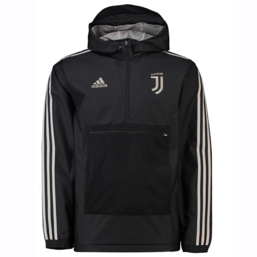 2018 2019 Juventus Adidas 3S Windbreaker (Black)