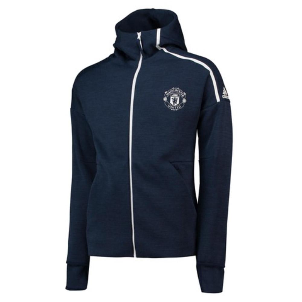 2018-2019 Man Utd Adidas Zne 3.0 Anthem Jacket (Navy)