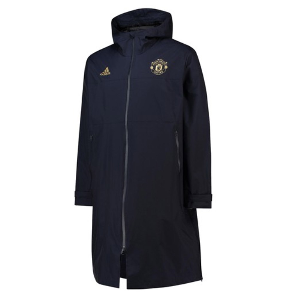 2018-2019 Man Utd Adidas UCL Long Padded Coat (Navy)