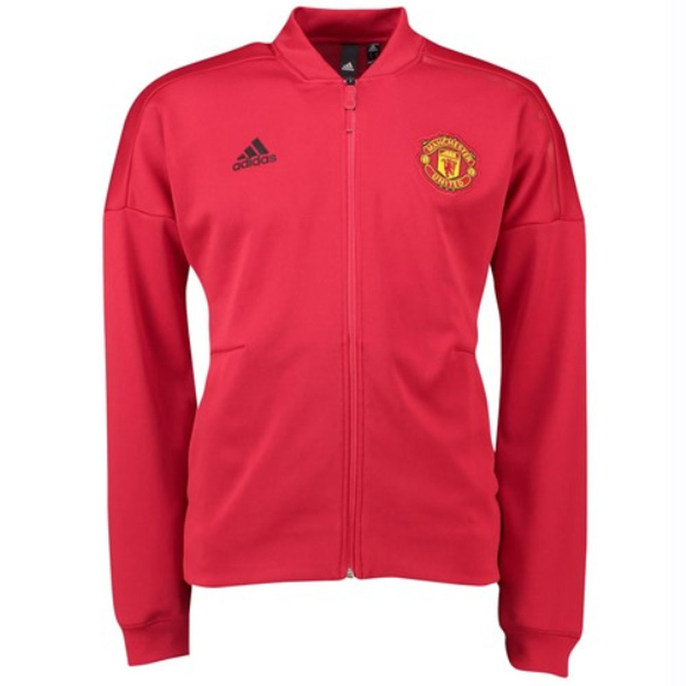123691ec 2018-2019 Man Utd Adidas Zone Anthem Jacket (Red) - Kids