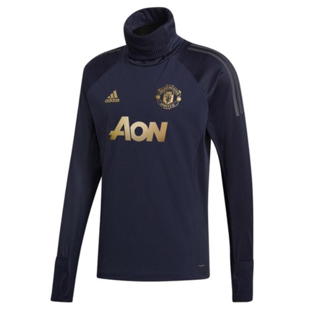 fbf76a2c65a 2018-2019 Man Utd Adidas UCL Warm Up Top (Navy) [CW7565] - Uksoccershop