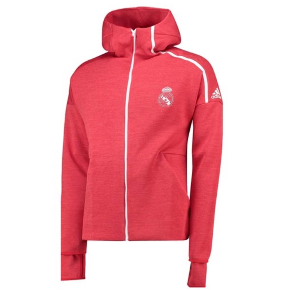 quality design a3662 e0658 2018-2019 Real Madrid Adidas ZNE 3.0 Anthem Jacket (Red)