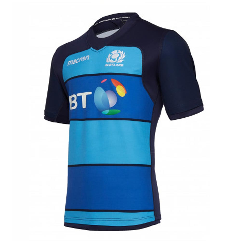 Macron Scotland 2018//19 Home Infant Kids Rugby Kit Navy Training Activewear