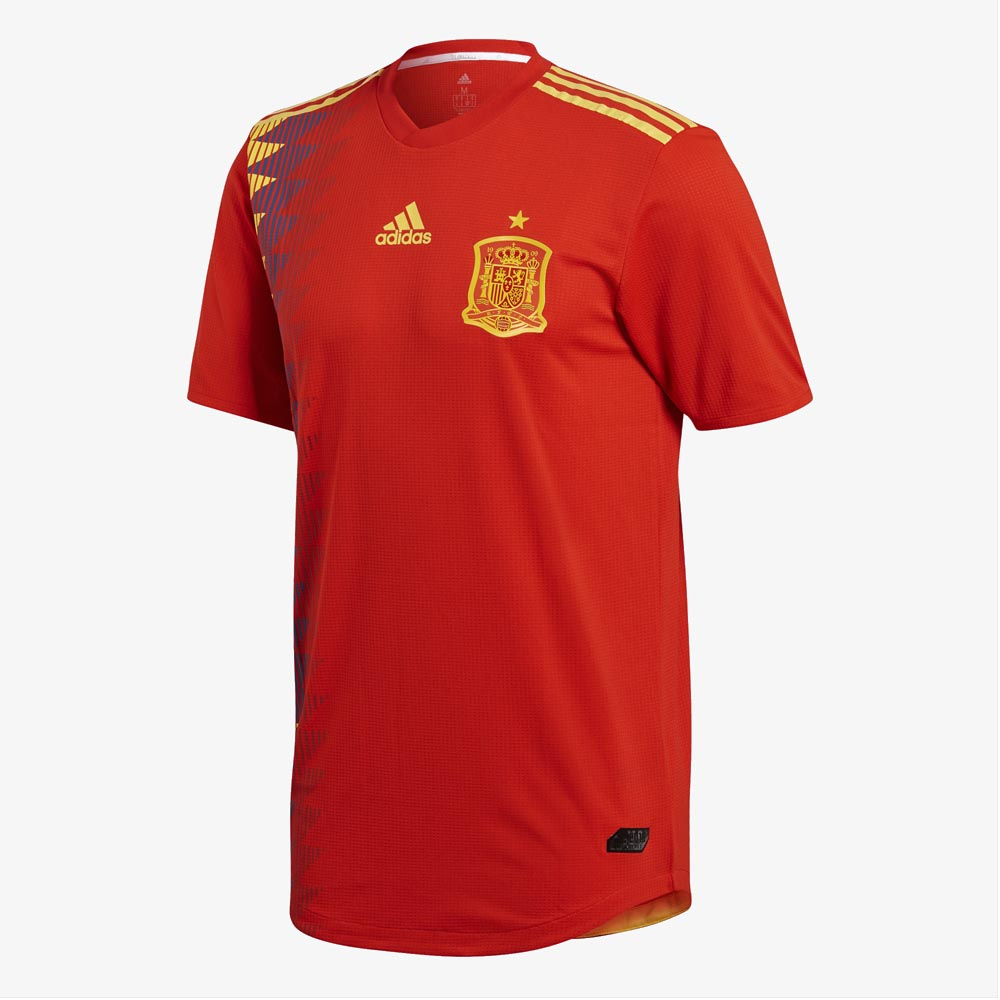 2018-2019 Spain Authentic Authentic Home Adidas Football Shirt Adidas