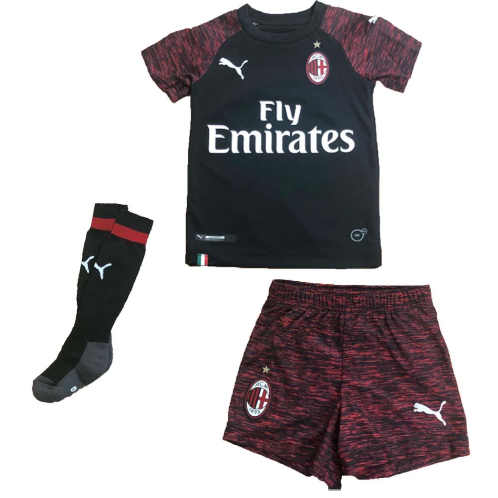 new arrival 05d96 ae710 2018-2019 AC Milan Puma Third Mini Kit
