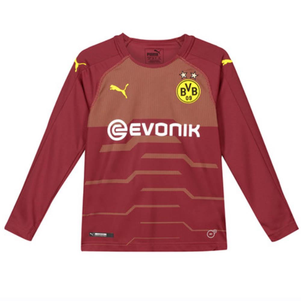 timeless design 323fd 1fcf7 2018-2019 Borussia Dortmund Away Goalkeeper Shirt Pomegranate (Kids)