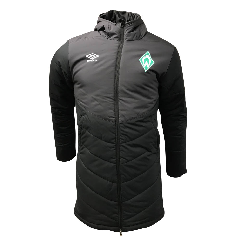 2018-2019 Werder Bremen Umbro Padded Jacket (Black) - Kids