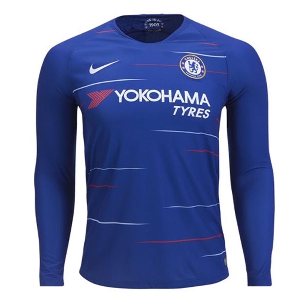 pretty nice 91ce6 e5c37 2018-2019 Chelsea Home Nike Long Sleeve Shirt