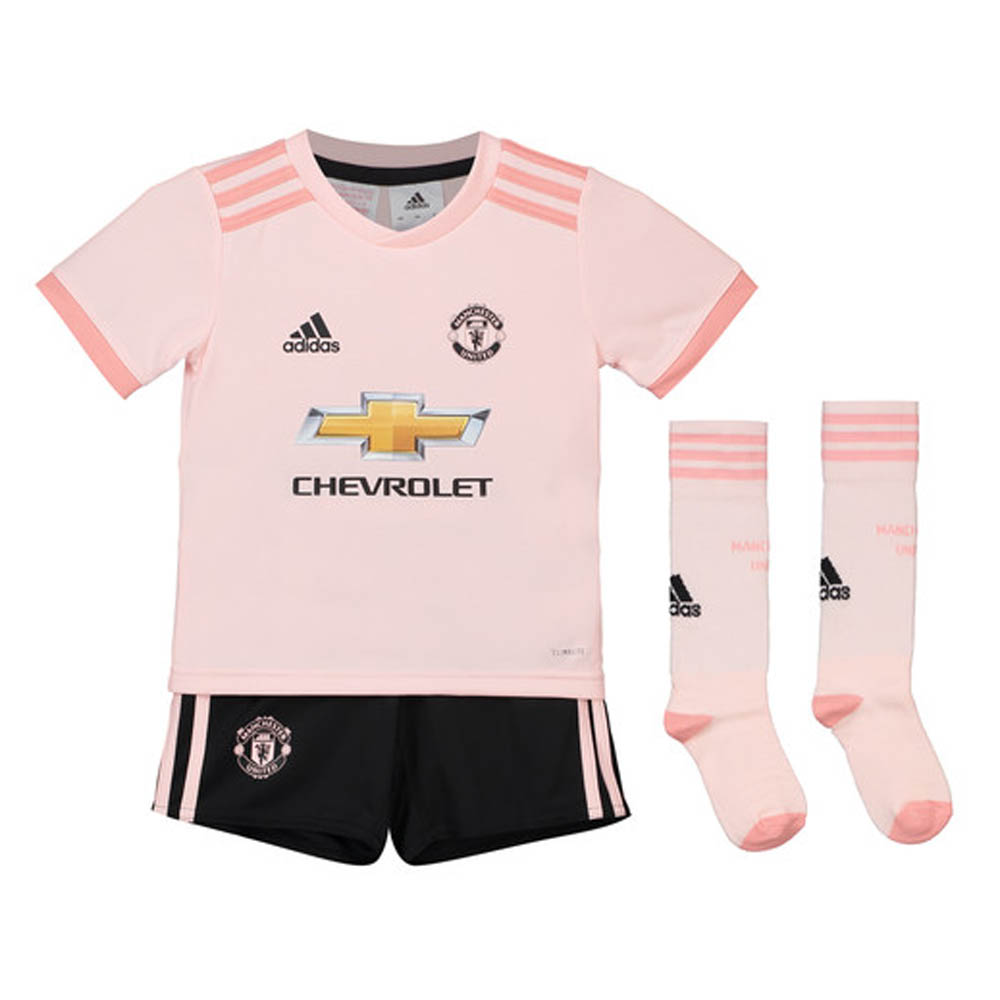 6ee55e61604 2018-2019 Man Utd Adidas Away Little Boys Mini Kit  CG0062  - Uksoccershop